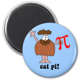 Funny eat pi math 2 inch round magnet