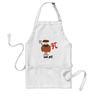 Funny eat pi math adult apron