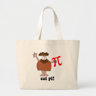 Funny eat pi math large tote bag
