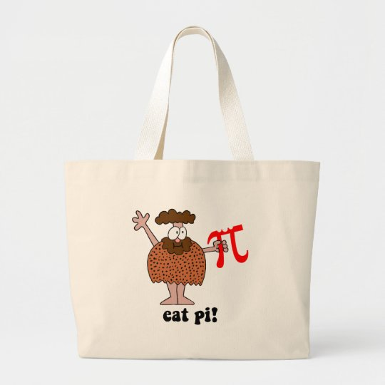 Funny eat pi math large tote bag