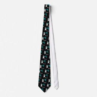 Funny eat pi neck tie