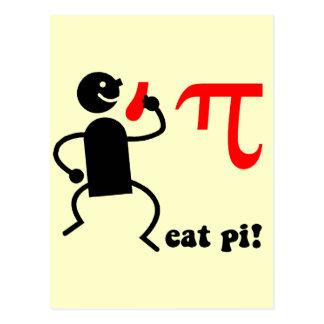 Funny eat pi post card