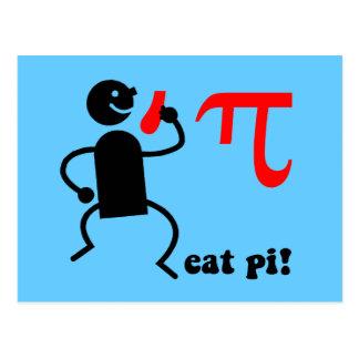 Funny eat pi postcards