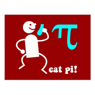 Funny eat pi post cards