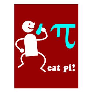 Funny eat pi postcard