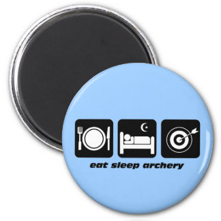 Funny eat sleep archery magnet