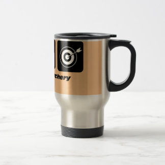 Funny eat sleep archery travel mug