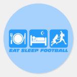 Funny eat sleep football stickers