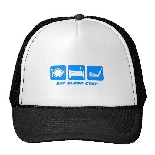 Funny eat sleep golf mesh hat