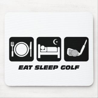 Funny eat sleep golf mouse pad