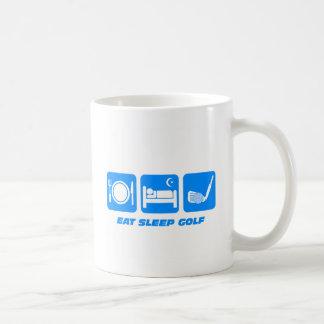 Funny eat sleep golf coffee mugs