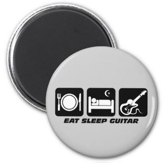 Funny eat sleep guitar magnet