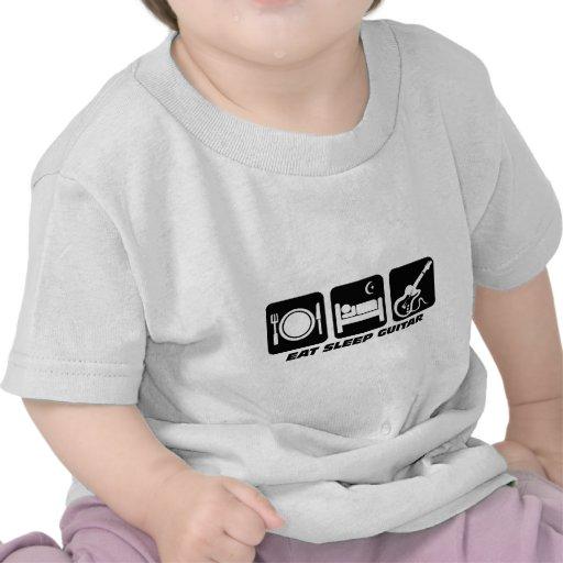 Funny eat sleep guitar tee shirts