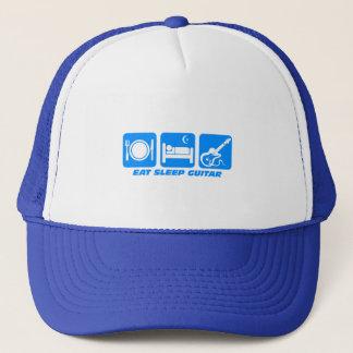 Funny eat sleep guitar trucker hat