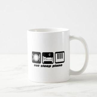 Funny eat sleep piano coffee mug