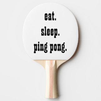 Funny eat sleep ping pong Ping-Pong paddle
