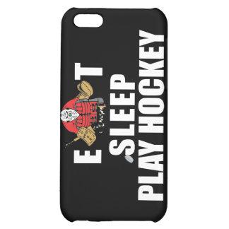 Funny Eat Sleep Play Hockey Goalie iPhone 5C Cover