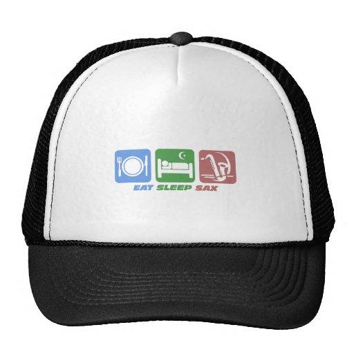 funny eat sleep sax trucker hat