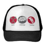Funny Eat Sleep Tuba Music Hat