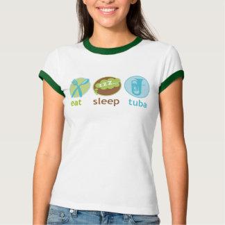Funny Eat Sleep Tuba Music Womens Tee