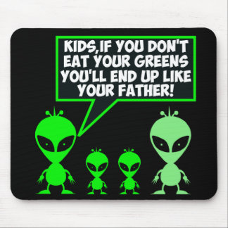 Funny eat your greens mouse pad