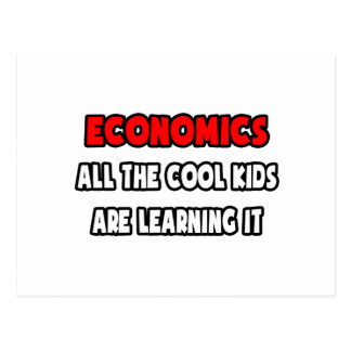 Funny Economics Teacher Shirts and Gifts Postcards
