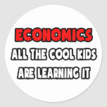 Funny Economics Teacher Shirts and Gifts Classic Round Sticker