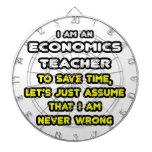 Funny Economics Teacher T-Shirts and Gifts Dartboard