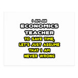 Funny Economics Teacher T-Shirts and Gifts Post Card