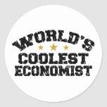 Funny Economist Classic Round Sticker