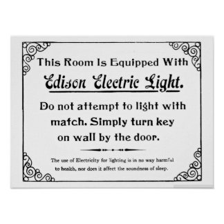 Funny Edison Electric Light Posters