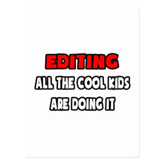 Funny Editor Shirts and Gifts Postcard
