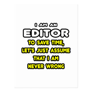 Funny Editor T-Shirts and Gifts Postcard