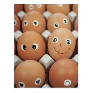 Funny Egg Faces - Breakfast Food Print Postcard