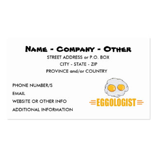 Funny Egg Lover Business Cards