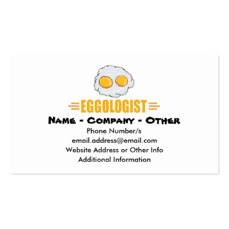 Funny Egg Lover Business Card Templates