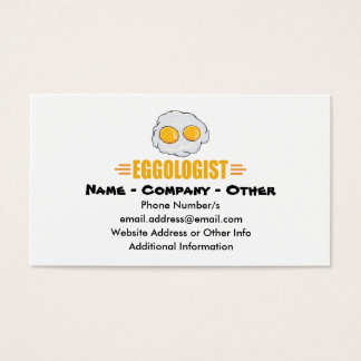 Funny Egg Lover Business Card