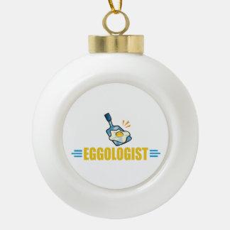 Funny Eggs Ceramic Ball Christmas Ornament