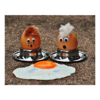 Funny eggs flyer