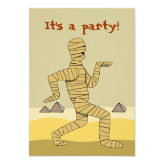 Funny Egyptian Mummy Halloween Party Invitations