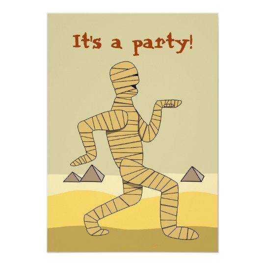 Funny Egyptian Mummy Halloween Party Invitations | Zazzle.com