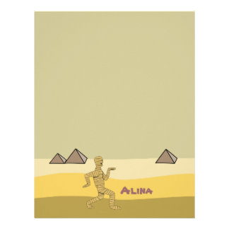 Funny Egyptian Mummy Pyramids Personalized Name Letterhead