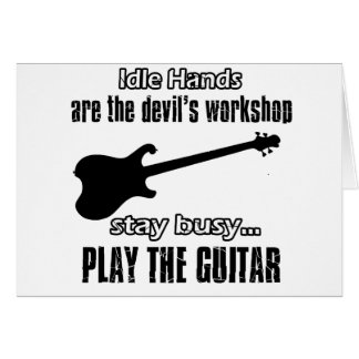 Funny electric guitar designs card