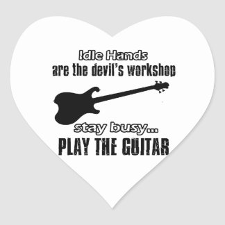 Funny electric guitar designs stickers