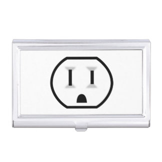 Funny Electrical Outlet Case For Business Cards
