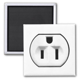 Funny Electrical Outlet | Gifts For Electricians 2 Inch Square Magnet