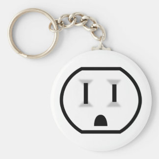 Funny Electrical Outlet Keychain
