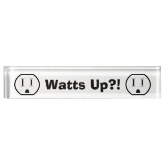 Funny Electrical Outlet Desk Name Plates
