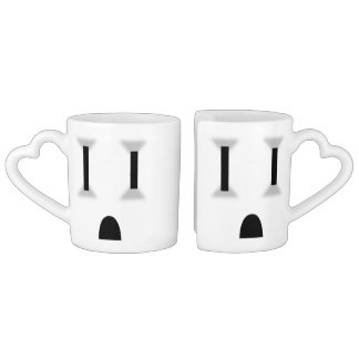 Funny Electrical Outlet (No Outline) Coffee Mug Set