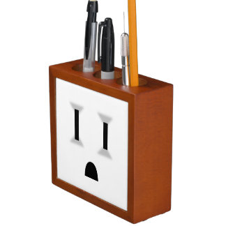 Funny Electrical Outlet (No Outline) Desk Organizers